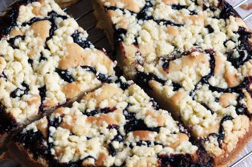 Cake Blueberry Streuseul Gagal