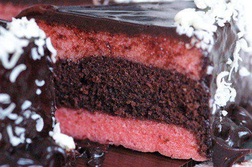 Brownies Kukus Coklat Strawberry