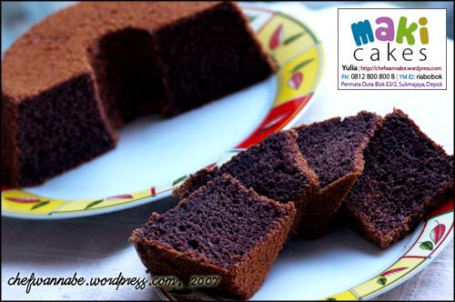 Chiffon Ketan Hitam - Maki Cakes