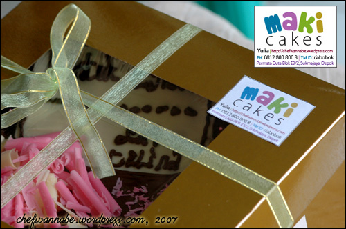 Chocolate Cake for Celina - Maki Cakes -