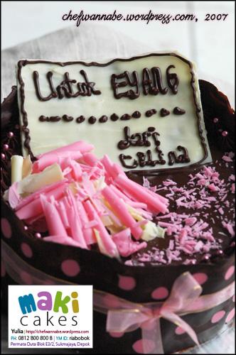 Chocolate Cake for Celina - Maki Cakes