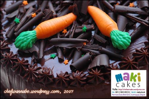 Chocolate Cake for Faisal & Anggi - Maki Cakes