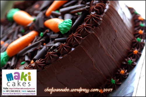 Chocolate Cake for Faisal & Anggi - Maki Cakes