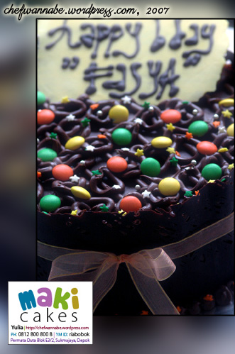 Chocolate Cake for Fasya - Maki Cakes