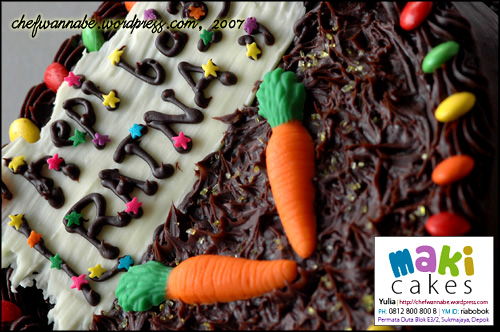 Chocolate Cake for Ratna - Maki Cakes