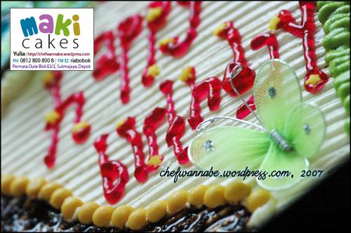 Birthday Cake Kebun - Maki Cakes