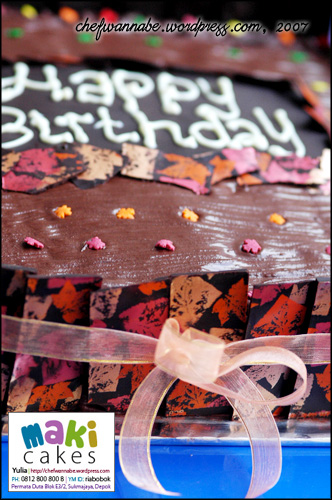 Chocolate Cake Mbak Cindy - MakiCakes