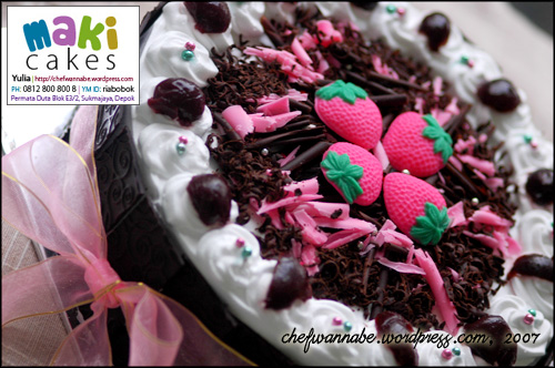 Pink Blackforest - Maki Cakes