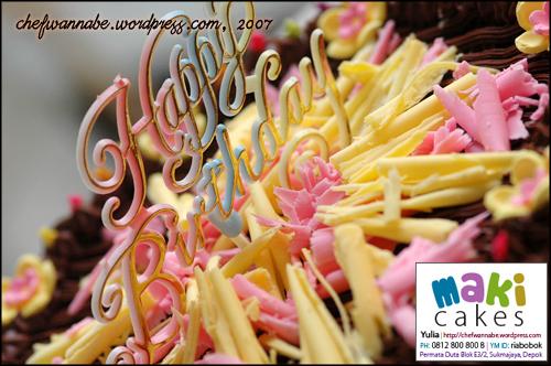 Colorfull Chocolate Cake - Maki Cakes