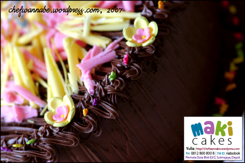 Colorfull Chocolate Cake - Maki Cakes