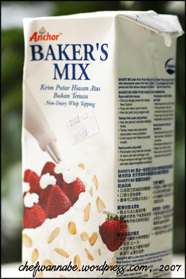 Whip Cream Baker's Mix