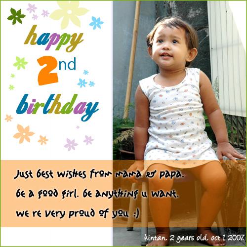 Kintan 2nd Birthday