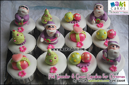 pink-lavender-green-cupcakes-for-christmas___-maki-cakes