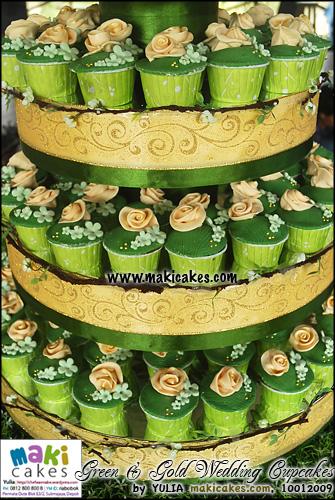 greengoldweddingcupcakes makicakes