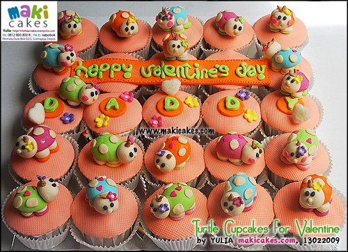 turtle-cupcakes-for-valentine-maki-cakes