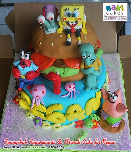 Spongebob Squarepants Friends Cake For Regan Mama Kintan Kinar
