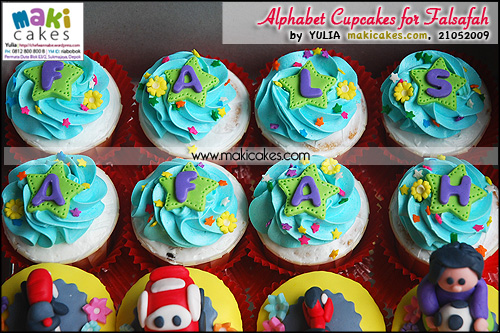 Alphabet Cupcakes for Falsafah - Maki Cakes