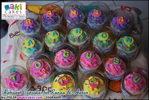 Alphabet Cupcakes for Ranaa & Aaron - Maki Cakes