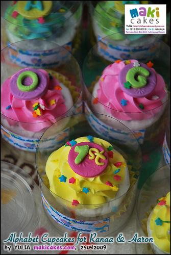 Alphabet Cupcakes for Ranaa & Aaron_ - Maki Cakes
