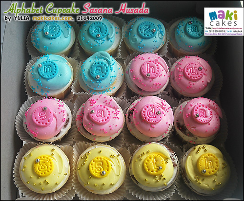 Alphabet Cupcakes Sasana Husada - Maki Cakes