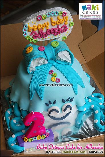 Baby Octopus Cake for Adheesha - Maki Cakes