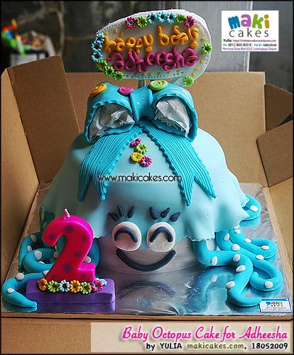 Baby Octopus Cake for Adheesha_ - Maki Cakes