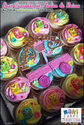 Bear Cupcakes for Andien & Raissa - Maki Cakes