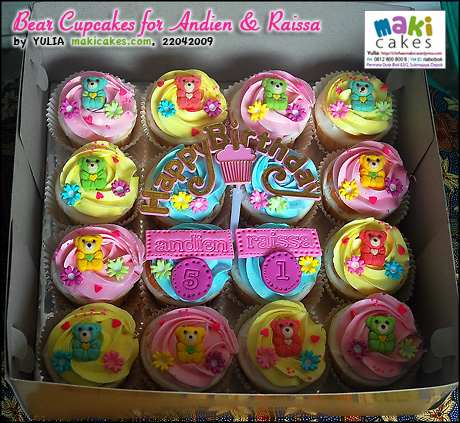 Bear Cupcakes for Andien & Raissa_ - Maki Cakes