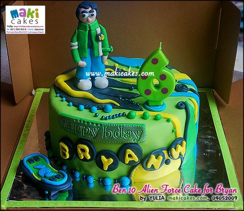 Ben 10 Alien Force Cake for Bryan - Maki Cakes