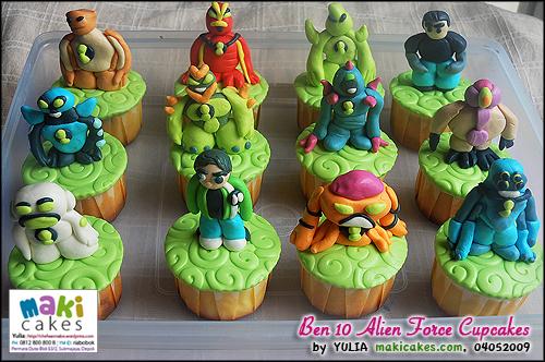 Ben 10 Alien Force Cupcakes - Maki Cakes