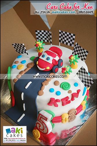 Cars Cake for Ken - Maki Cakes