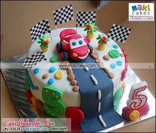 Cars Cake for Ken_ - Maki Cakes