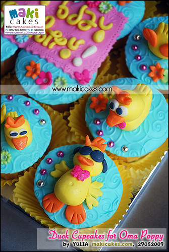 Duck Cupcakes for Oma Poppy_ - Maki Cakes