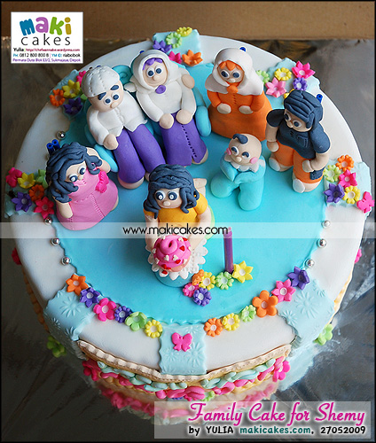 Family Cake for Shemy_ - Maki Cakes
