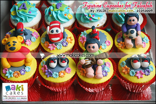 Figurine Cupcakes for Falsafah - Maki Cakes