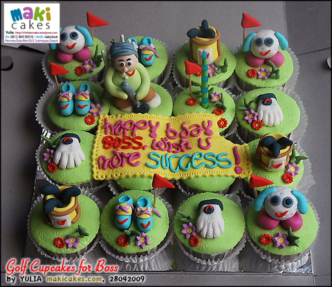Golf Cupcakes for Boss - Maki Cakes