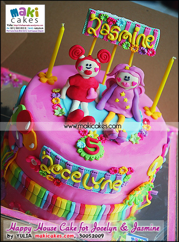 Happy House Cake for Jocelyne & Jasmine - Maki Cakes