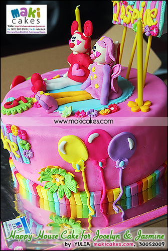 Happy House Cake for Jocelyne & Jasmine_ - Maki Cakes