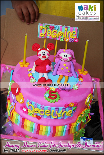 Happy House Cake for Jocelyne & Jasmine__ - Maki Cakes