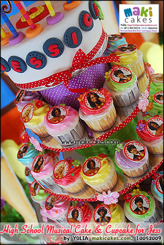 High School Musical Cake & Cupcake for Jessica - Maki Cakes