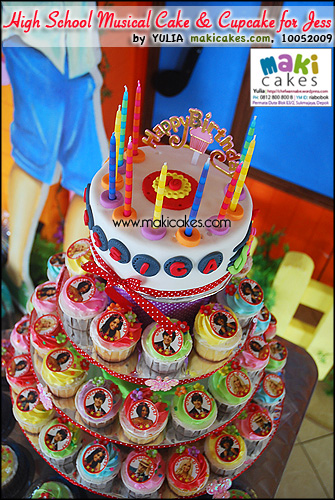 High School Musical Cake & Cupcake for Jessica_ - Maki Cakes
