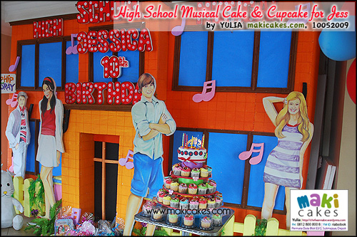 High School Musical Cake & Cupcake for Jessica__ - Maki Cakes