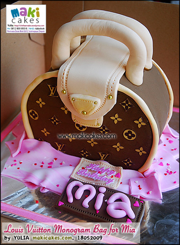 Louis Vuitton Monogram Bag Cake for Mia - Maki Cakes