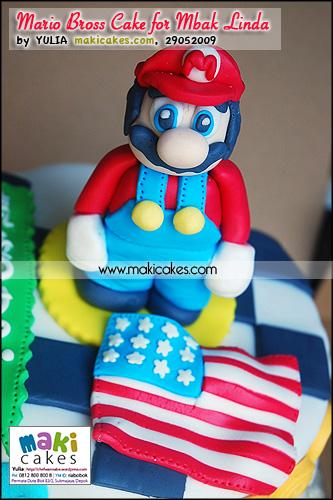 Mario Bross Cake for Mbak Linda - Maki Cakes