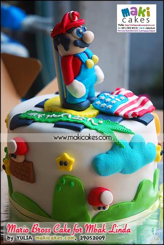 Mario Bross Cake for Mbak Linda_ - Maki Cakes