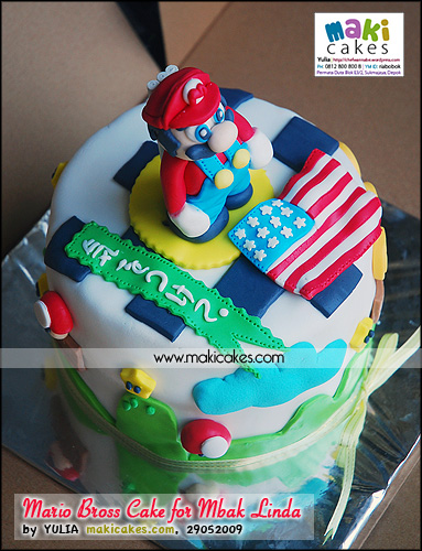 Mario Bross Cake for Mbak Linda__ - Maki Cakes