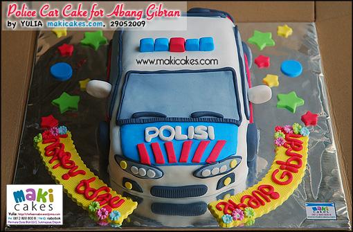 Police Car Cake for Abang Gibran - Maki Cakes