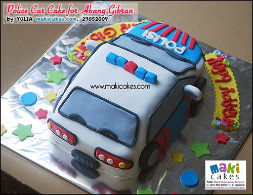 Police Car Cake for Abang Gibran_ - Maki Cakes