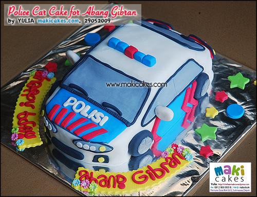 Police Car Cake for Abang Gibran__ - Maki Cakes