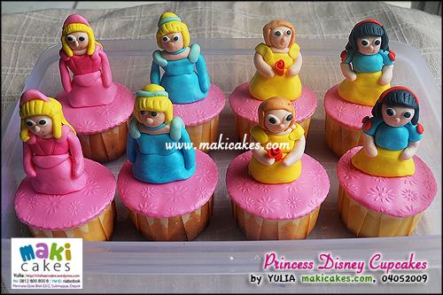 Princess Disney Cupcakes - Maki Cakes